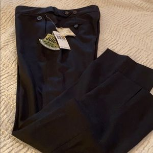 Black super fine wool pants
